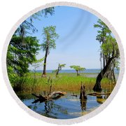 Lake Waccamaw Nc Round Beach Towel