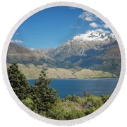 Lake Wanaka New Zealand Iv Round Beach Towel