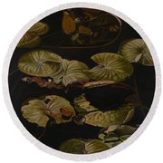 Lake Washington Lily Pad 9 Round Beach Towel
