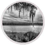 Lake Wauberg   Round Beach Towel by Howard Salmon