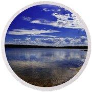 Lake Wollumboola Memories  Round Beach Towel