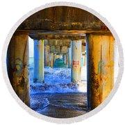 Lake Worth, Florida Pier Round Beach Towel