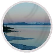 Lake Yellowstone Round Beach Towel