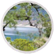 Lake025 Round Beach Towel