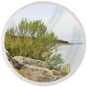 Lake033 Round Beach Towel