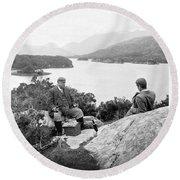 Lakes Of Killarney - Ireland - C 1896 Round Beach Towel