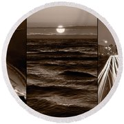 Lakeshore Chicago Round Beach Towel