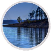 Lakeside-beavers Bend Oklahoma Round Beach Towel