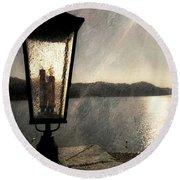 Lakeside Lantern Round Beach Towel