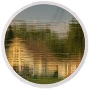 Lakeside Living On Wiggins Lake - Abstract Round Beach Towel