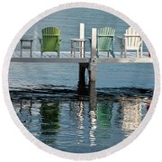 Lakeside Living Round Beach Towel