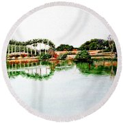 Lakeview Reflections Round Beach Towel