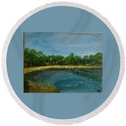 Lakeview Tallahassee Round Beach Towel