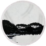 Lal Bagh Lake 3 Round Beach Towel