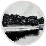Lal Bagh Lake 4 Round Beach Towel