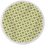 Lalabutterfly Lemons Reduced Scale Round Beach Towel