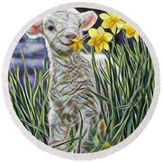 Lamb Collection Round Beach Towel