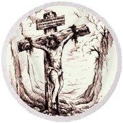 Lamb Of God Round Beach Towel