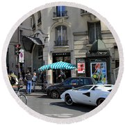 Lamborghini Countach Round Beach Towel