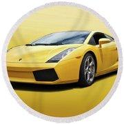 Lamborghini Gallardo 'banana Republic' II Round Beach Towel