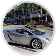 Lamborghini Gallardo Lp560 Round Beach Towel