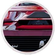 Lamborghini Rear View Round Beach Towel by Jill Reger