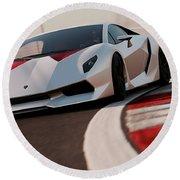 Lamborghini Sesto Elemento - 03 Round Beach Towel