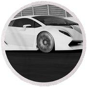 Lamborghini Sesto Elemento - 21 Round Beach Towel
