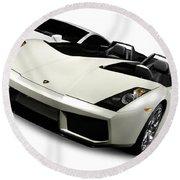 Lamborghini Super Cars Round Beach Towel
