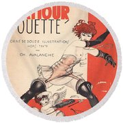 L'amour Fouette Round Beach Towel