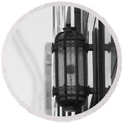 Lamp On The Wall Round Beach Towel