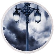 Lamp Post Round Beach Towel