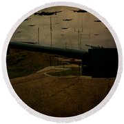 Lancasters Over Newhaven March 30th 1944 Round Beach Towel