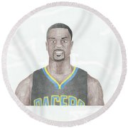 Lance Stephenson Round Beach Towel by Toni Jaso