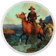 Land Beyond The Law Round Beach Towel
