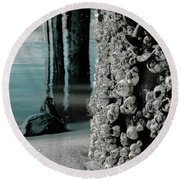 Land Meets Water Nature Photograph Round Beach Towel