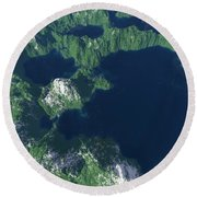 Land Of A Thousand Lakes Round Beach Towel