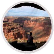 Land Of Canyons Round Beach Towel