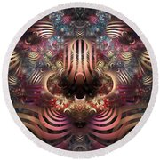 Land Of Confusion Round Beach Towel
