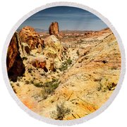 Land Of Sandstones Valley Of Fire Round Beach Towel