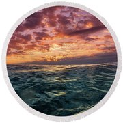 Land Of The Rising Sun Round Beach Towel
