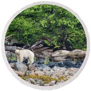 Land Of The Spirit Bear Round Beach Towel