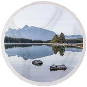 Land Of Thousand Lakes Round Beach Towel