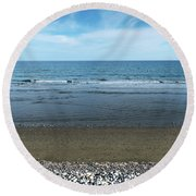 Land Sea And Ocean Background Round Beach Towel
