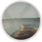Land Shapes Round Beach Towel