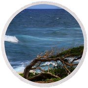 Land Wind And Sea Round Beach Towel