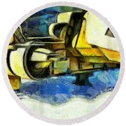Landed Imperial Shuttle - Pa Round Beach Towel