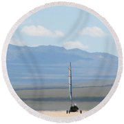 Landsailing Too Round Beach Towel