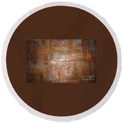 Landscape - Gold Round Beach Towel