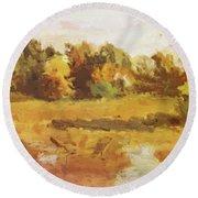 Landscape 1884 Round Beach Towel